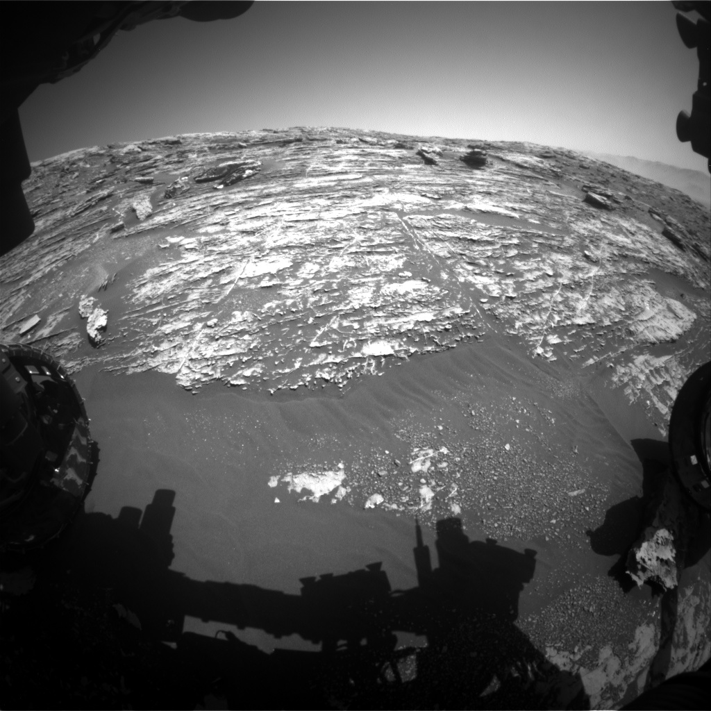 Nasa's Mars rover Curiosity acquired this image using its Front Hazard Avoidance Camera (Front Hazcam) on Sol 1803, at drive 2882, site number 65