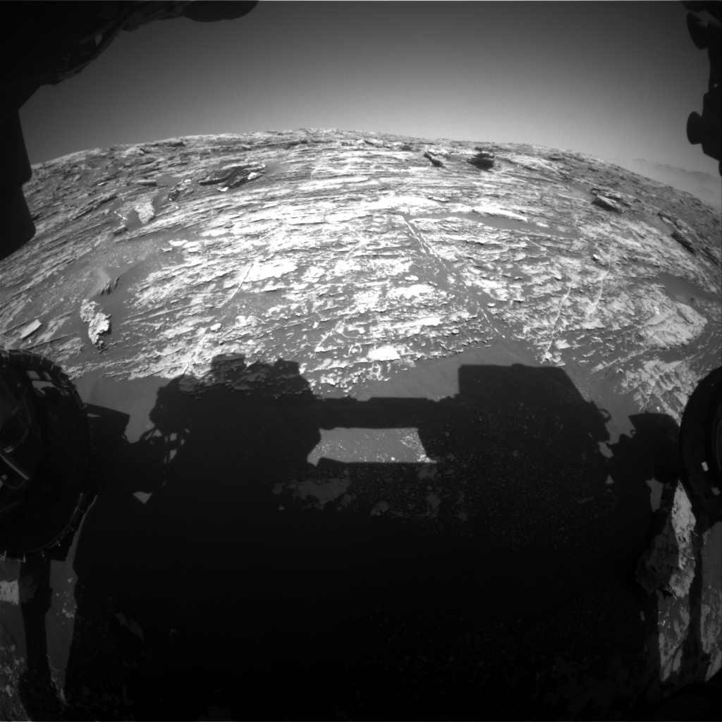 Nasa's Mars rover Curiosity acquired this image using its Front Hazard Avoidance Camera (Front Hazcam) on Sol 1804, at drive 2882, site number 65