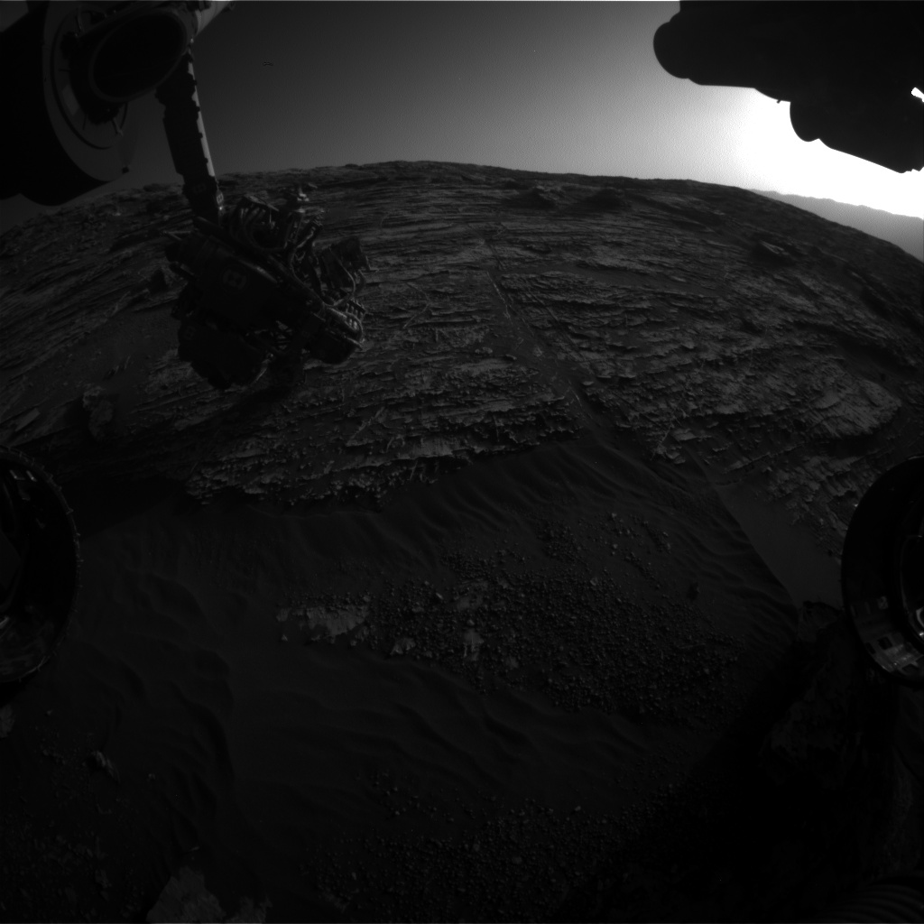 Nasa's Mars rover Curiosity acquired this image using its Front Hazard Avoidance Camera (Front Hazcam) on Sol 1805, at drive 2882, site number 65