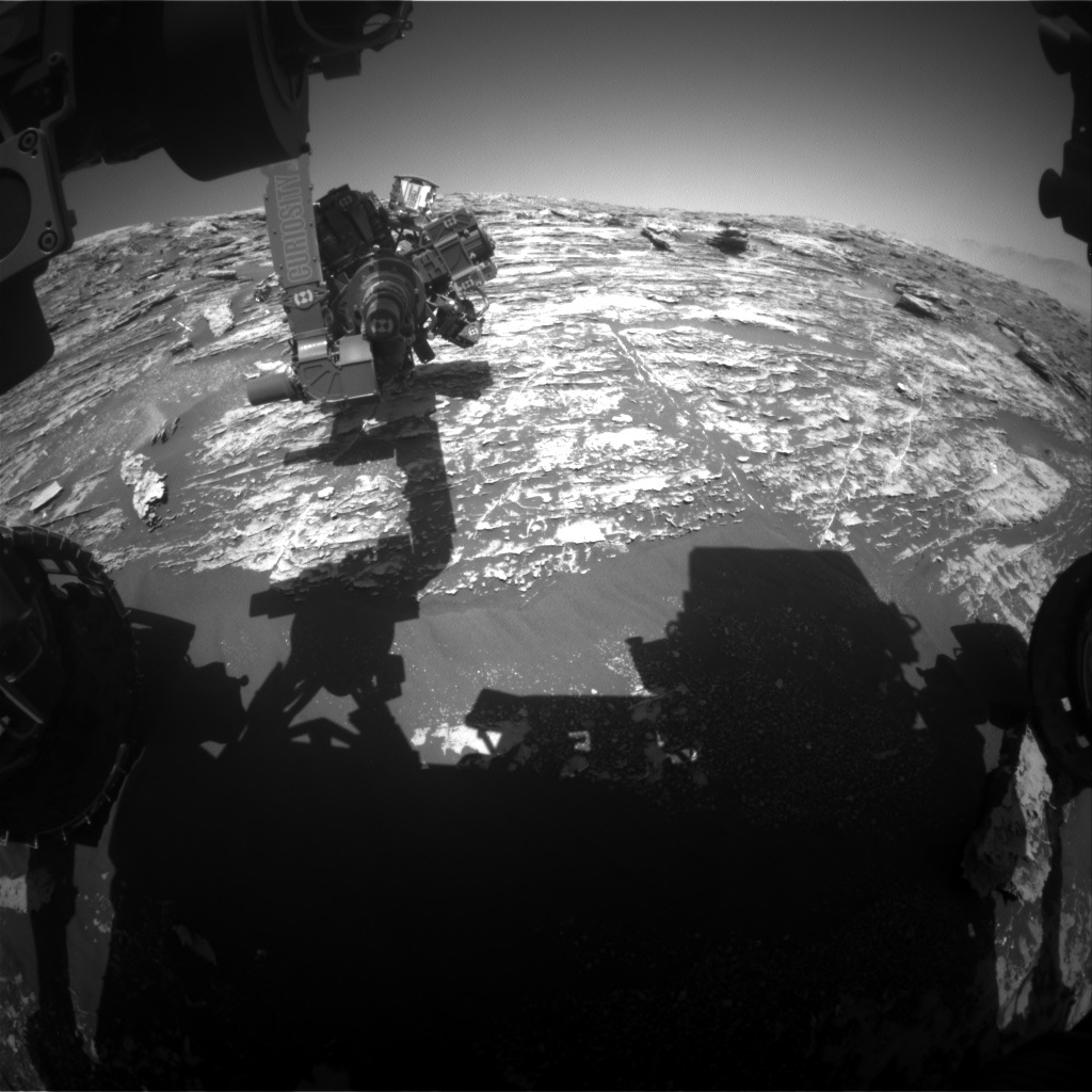 NASA's Mars rover Curiosity acquired this image using its Front Hazard Avoidance Cameras (Front Hazcams) on Sol 1806