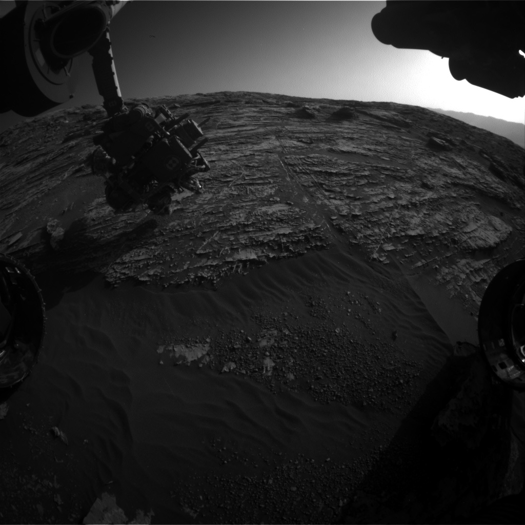 Nasa's Mars rover Curiosity acquired this image using its Front Hazard Avoidance Camera (Front Hazcam) on Sol 1806, at drive 2882, site number 65