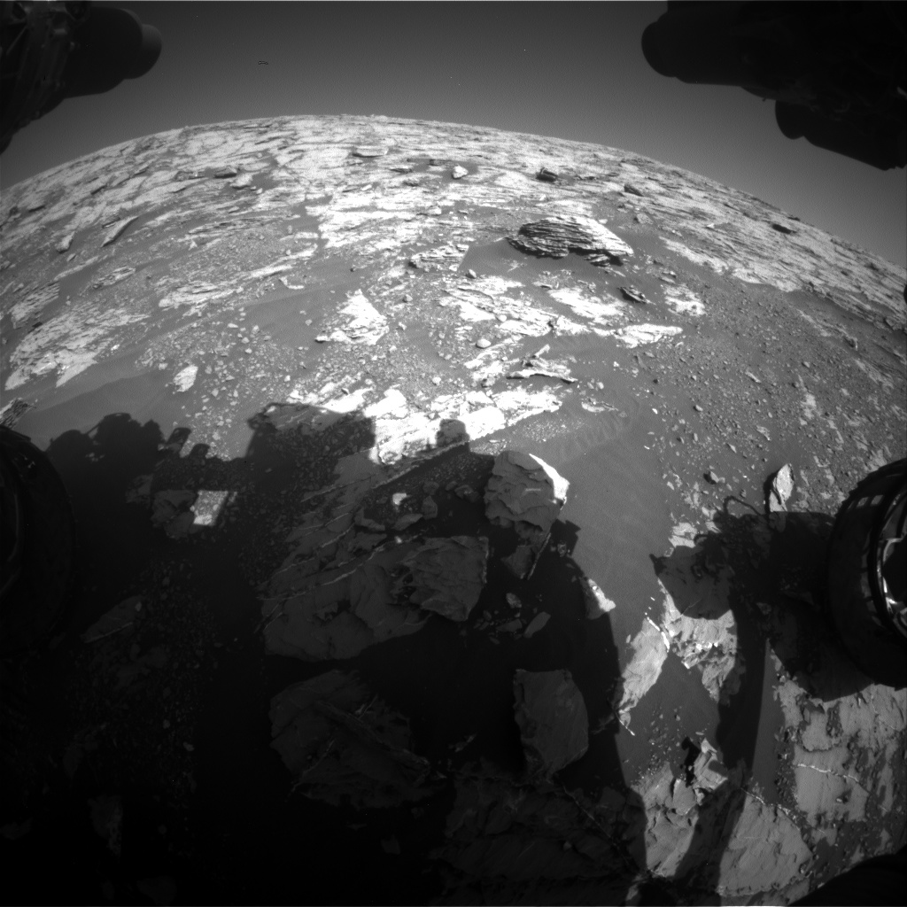 Nasa's Mars rover Curiosity acquired this image using its Front Hazard Avoidance Camera (Front Hazcam) on Sol 1807, at drive 3200, site number 65