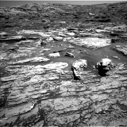 Nasa's Mars rover Curiosity acquired this image using its Left Navigation Camera on Sol 1807, at drive 2888, site number 65
