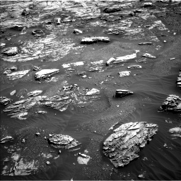 Nasa's Mars rover Curiosity acquired this image using its Left Navigation Camera on Sol 1807, at drive 3092, site number 65