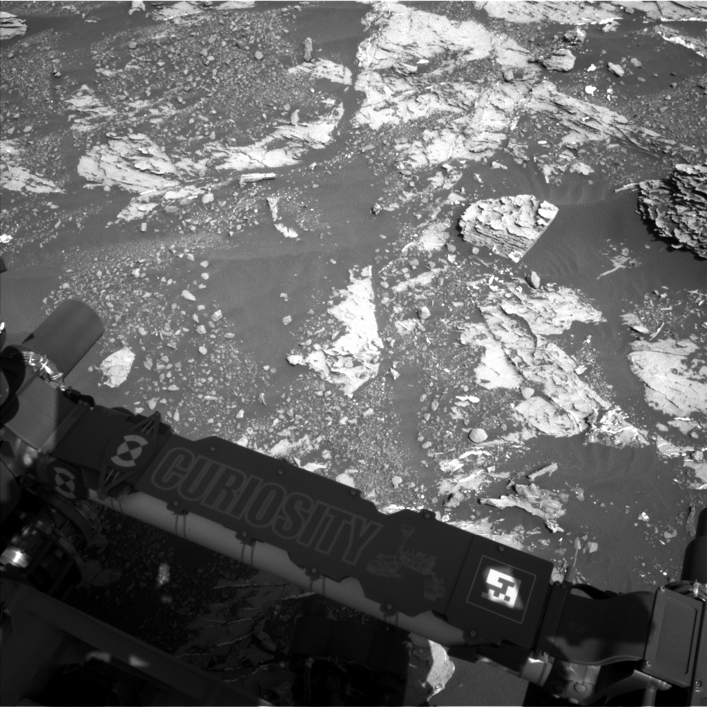 Nasa's Mars rover Curiosity acquired this image using its Left Navigation Camera on Sol 1807, at drive 3200, site number 65