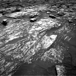 Nasa's Mars rover Curiosity acquired this image using its Right Navigation Camera on Sol 1807, at drive 2948, site number 65