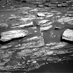 Nasa's Mars rover Curiosity acquired this image using its Right Navigation Camera on Sol 1807, at drive 3002, site number 65