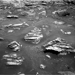 Nasa's Mars rover Curiosity acquired this image using its Right Navigation Camera on Sol 1807, at drive 3080, site number 65