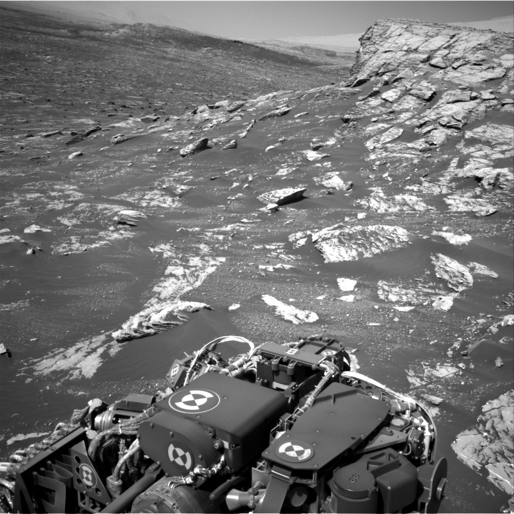 NASA's Mars rover Curiosity acquired this image using its Right Navigation Cameras (Navcams) on Sol 1807