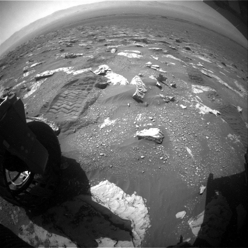 NASA's Mars rover Curiosity acquired this image using its Rear Hazard Avoidance Cameras (Rear Hazcams) on Sol 1807