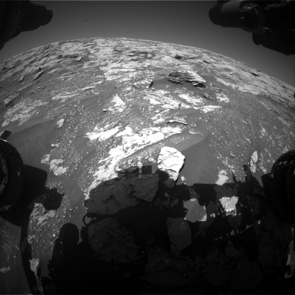Nasa's Mars rover Curiosity acquired this image using its Front Hazard Avoidance Camera (Front Hazcam) on Sol 1808, at drive 3200, site number 65