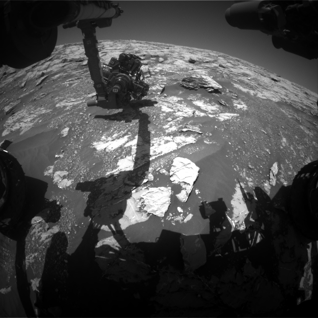 Nasa's Mars rover Curiosity acquired this image using its Front Hazard Avoidance Camera (Front Hazcam) on Sol 1809, at drive 3200, site number 65