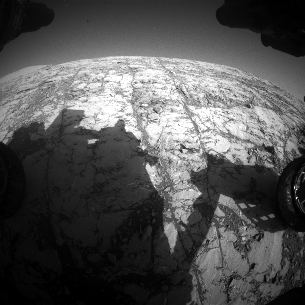Nasa's Mars rover Curiosity acquired this image using its Front Hazard Avoidance Camera (Front Hazcam) on Sol 1809, at drive 3308, site number 65