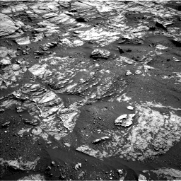 Nasa's Mars rover Curiosity acquired this image using its Left Navigation Camera on Sol 1809, at drive 3200, site number 65
