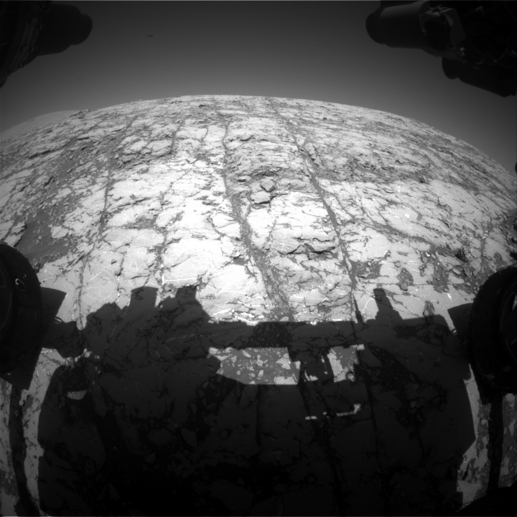 NASA's Mars rover Curiosity acquired this image using its Front Hazard Avoidance Cameras (Front Hazcams) on Sol 1810
