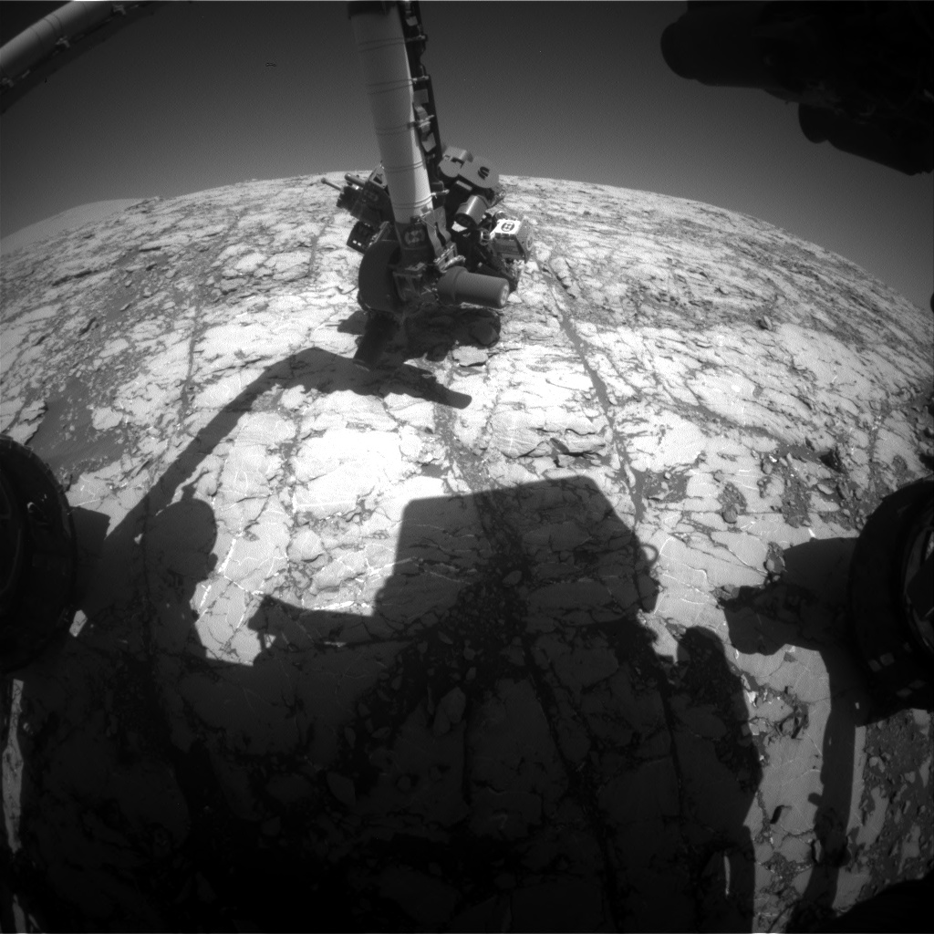 Nasa's Mars rover Curiosity acquired this image using its Front Hazard Avoidance Camera (Front Hazcam) on Sol 1811, at drive 3308, site number 65