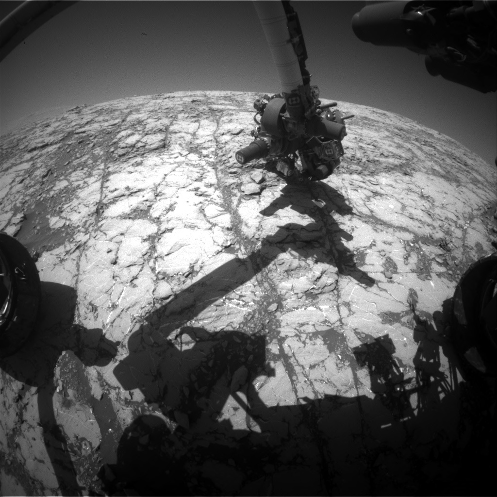Nasa's Mars rover Curiosity acquired this image using its Front Hazard Avoidance Camera (Front Hazcam) on Sol 1812, at drive 3308, site number 65