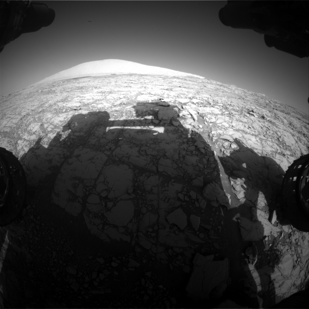 NASA's Mars rover Curiosity acquired this image using its Front Hazard Avoidance Cameras (Front Hazcams) on Sol 1812