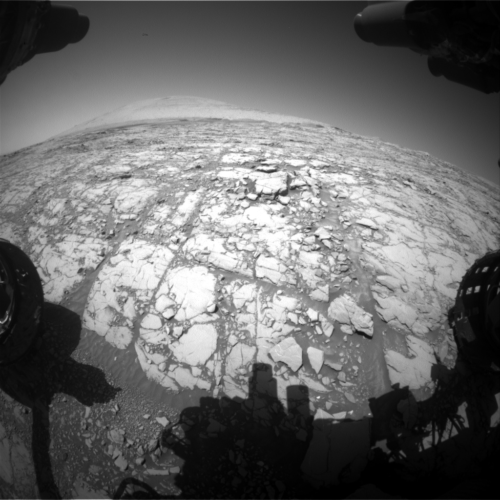 Nasa's Mars rover Curiosity acquired this image using its Front Hazard Avoidance Camera (Front Hazcam) on Sol 1813, at drive 0, site number 66