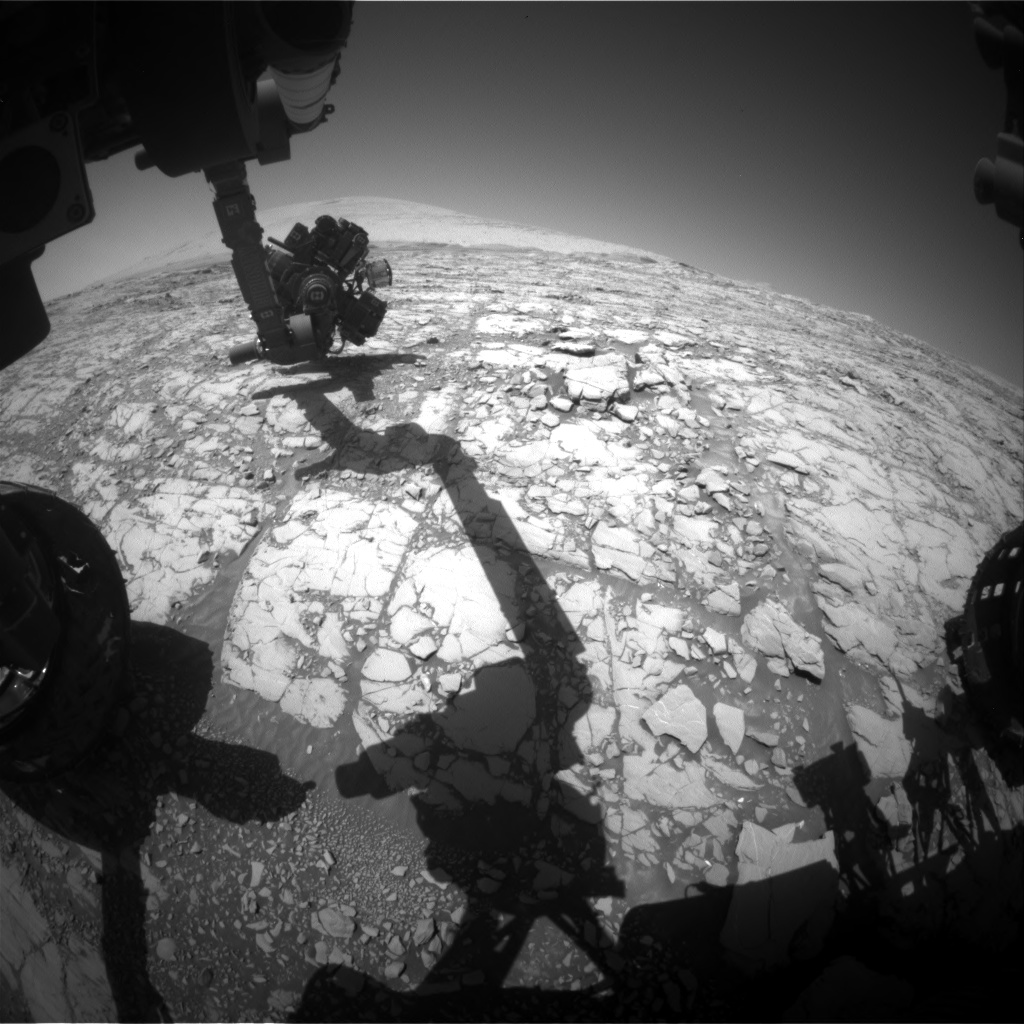 Nasa's Mars rover Curiosity acquired this image using its Front Hazard Avoidance Camera (Front Hazcam) on Sol 1814, at drive 0, site number 66