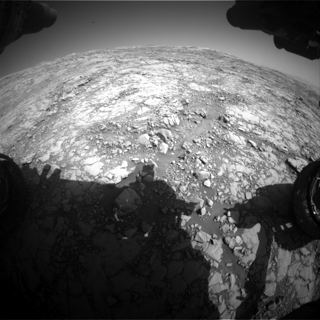 Nasa's Mars rover Curiosity acquired this image using its Front Hazard Avoidance Camera (Front Hazcam) on Sol 1814, at drive 84, site number 66