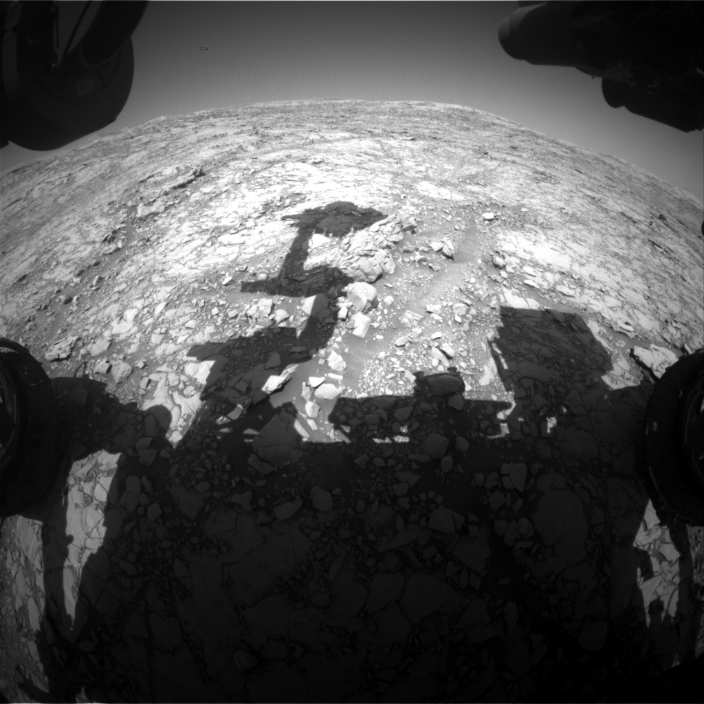 Nasa's Mars rover Curiosity acquired this image using its Front Hazard Avoidance Camera (Front Hazcam) on Sol 1815, at drive 84, site number 66