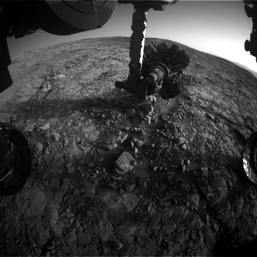 Nasa's Mars rover Curiosity acquired this image using its Front Hazard Avoidance Camera (Front Hazcam) on Sol 1816, at drive 84, site number 66