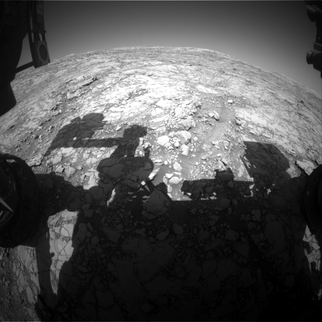 Nasa's Mars rover Curiosity acquired this image using its Front Hazard Avoidance Camera (Front Hazcam) on Sol 1817, at drive 84, site number 66