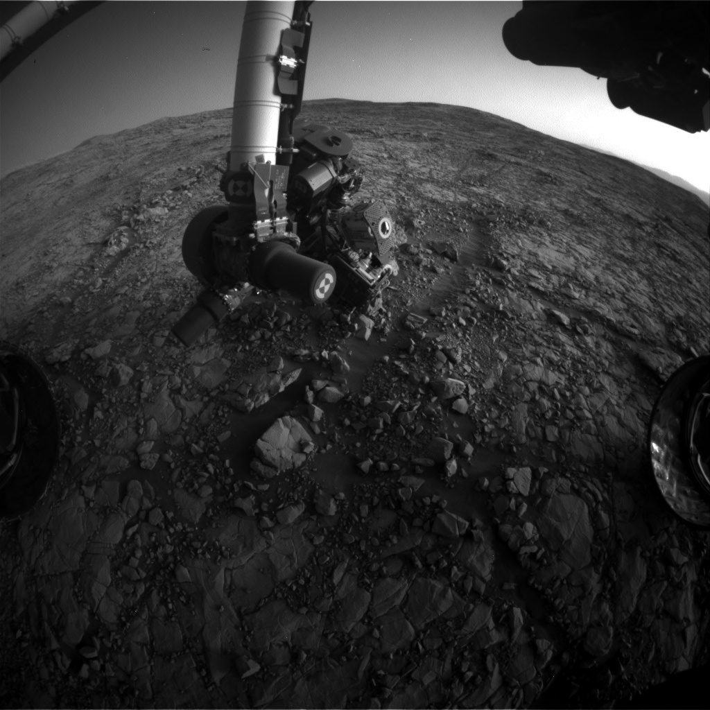 Nasa's Mars rover Curiosity acquired this image using its Front Hazard Avoidance Camera (Front Hazcam) on Sol 1818, at drive 84, site number 66
