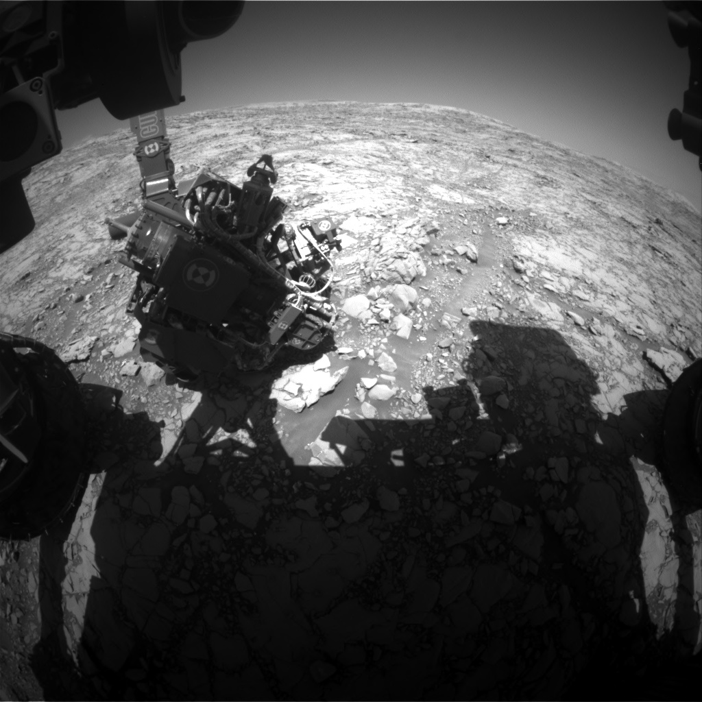 Nasa's Mars rover Curiosity acquired this image using its Front Hazard Avoidance Camera (Front Hazcam) on Sol 1819, at drive 84, site number 66