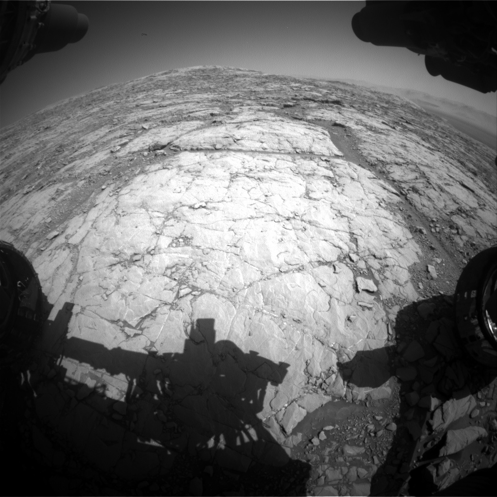 NASA's Mars rover Curiosity acquired this image using its Front Hazard Avoidance Cameras (Front Hazcams) on Sol 1819