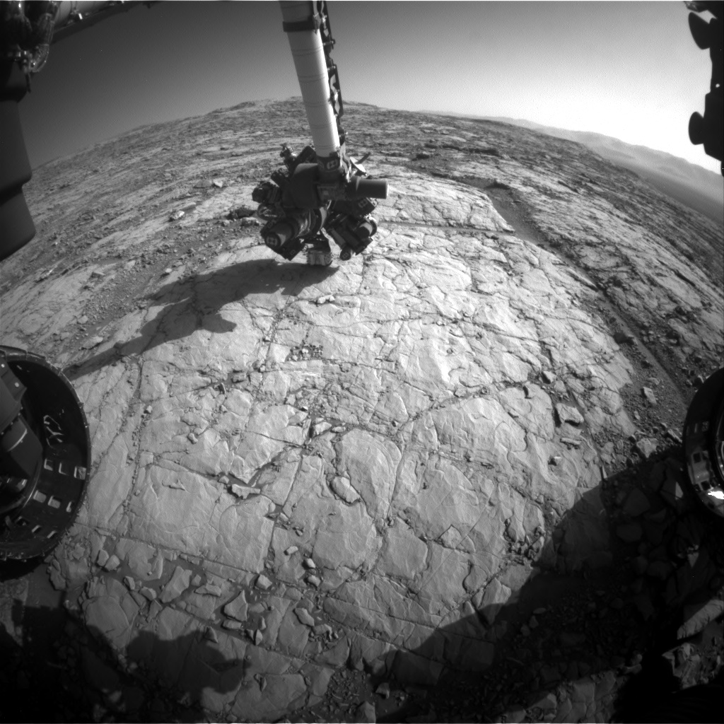 Nasa's Mars rover Curiosity acquired this image using its Front Hazard Avoidance Camera (Front Hazcam) on Sol 1821, at drive 246, site number 66