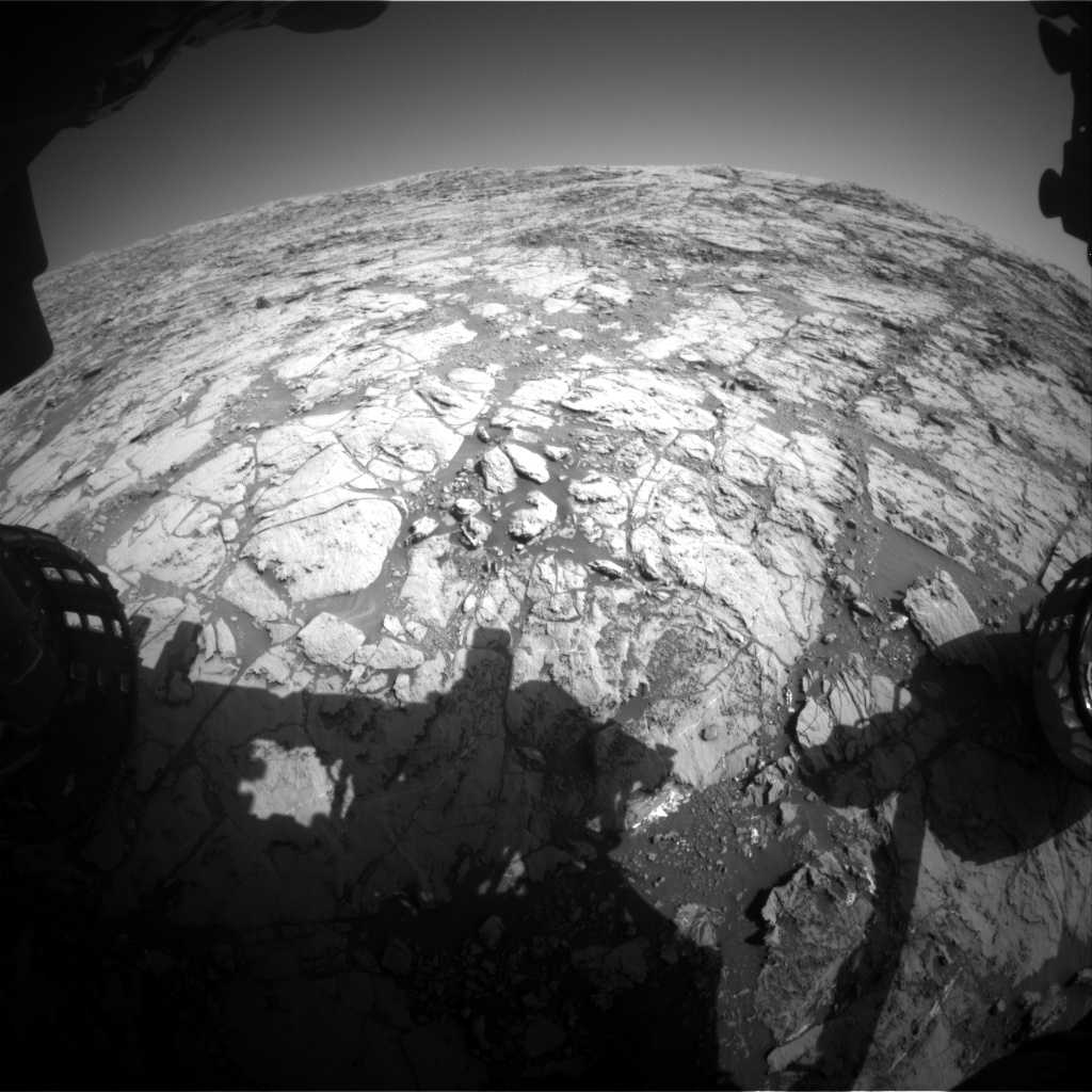 Nasa's Mars rover Curiosity acquired this image using its Front Hazard Avoidance Camera (Front Hazcam) on Sol 1822, at drive 384, site number 66