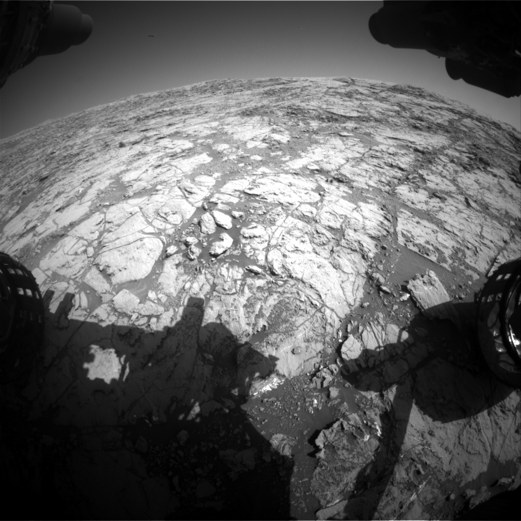 NASA's Mars rover Curiosity acquired this image using its Front Hazard Avoidance Cameras (Front Hazcams) on Sol 1822
