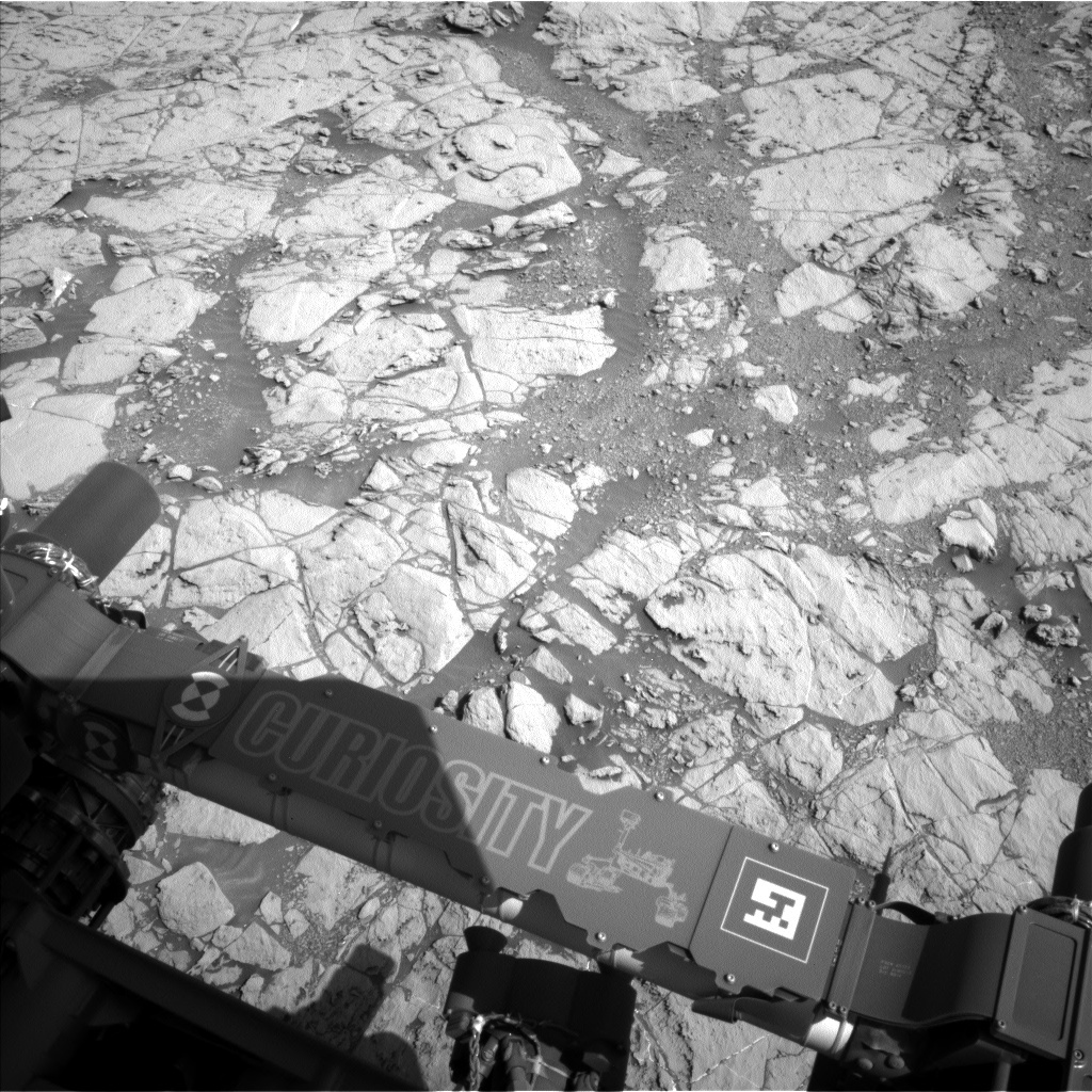 NASA's Mars rover Curiosity acquired this image using its Left Navigation Camera (Navcams) on Sol 1822