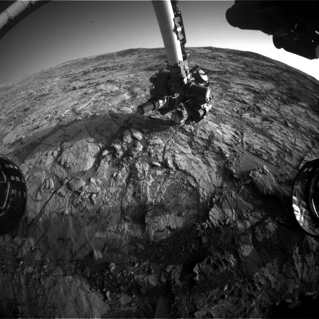 Nasa's Mars rover Curiosity acquired this image using its Front Hazard Avoidance Camera (Front Hazcam) on Sol 1824, at drive 384, site number 66