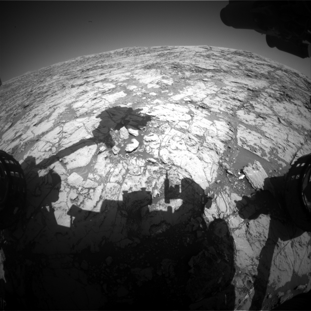 NASA's Mars rover Curiosity acquired this image using its Front Hazard Avoidance Cameras (Front Hazcams) on Sol 1825