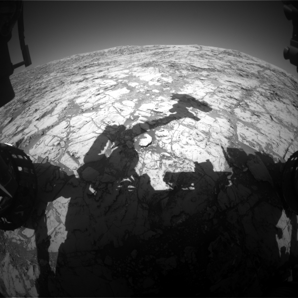 NASA's Mars rover Curiosity acquired this image using its Front Hazard Avoidance Cameras (Front Hazcams) on Sol 1826