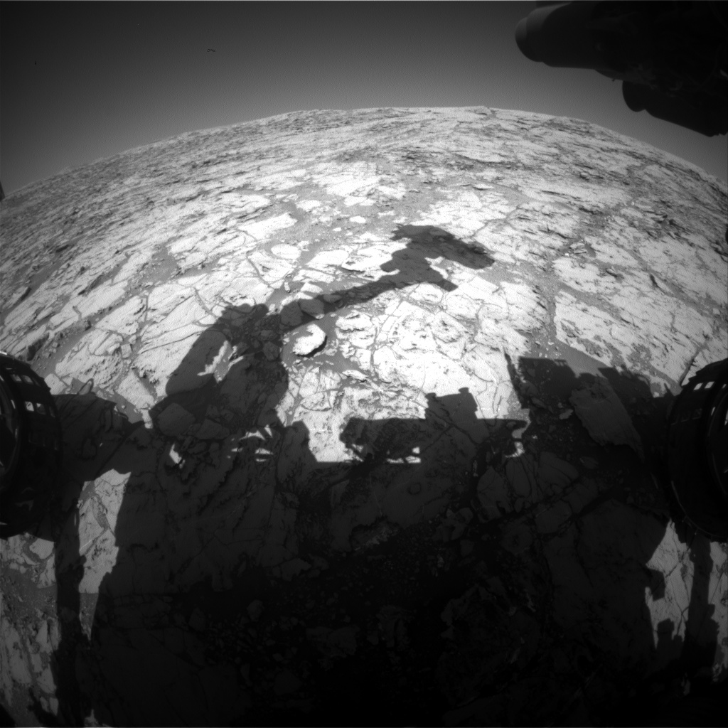 Nasa's Mars rover Curiosity acquired this image using its Front Hazard Avoidance Camera (Front Hazcam) on Sol 1826, at drive 384, site number 66