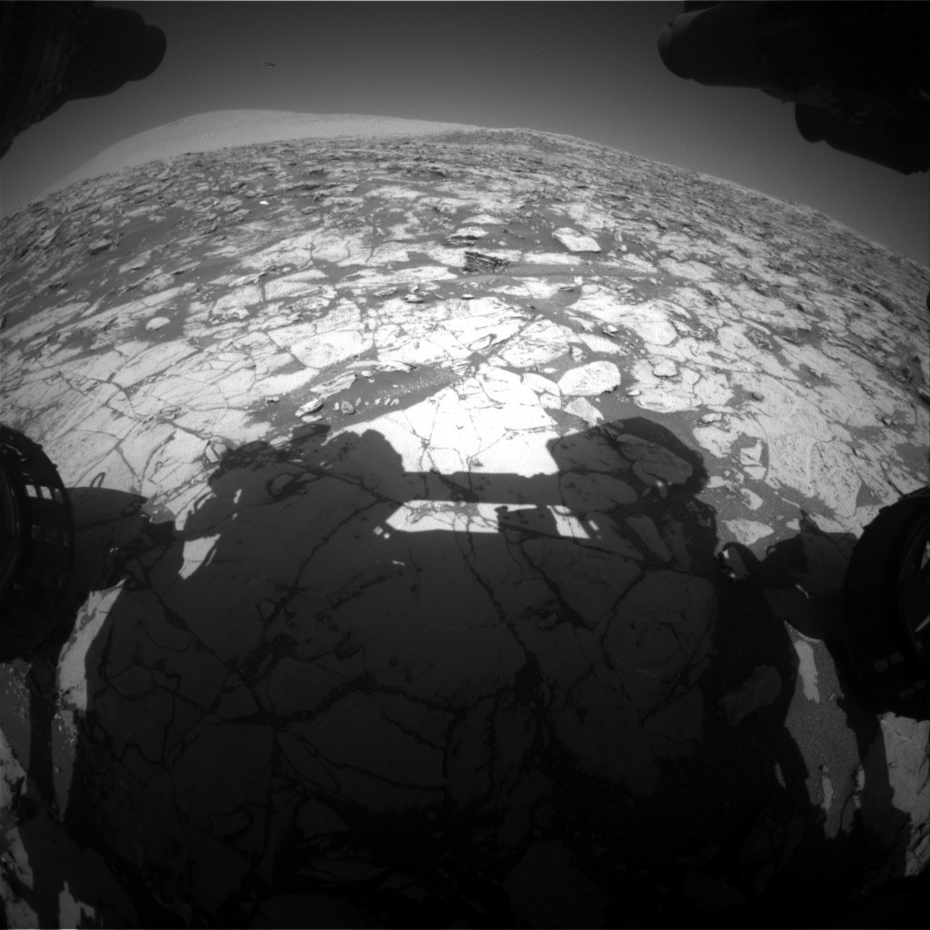 Nasa's Mars rover Curiosity acquired this image using its Front Hazard Avoidance Camera (Front Hazcam) on Sol 1827, at drive 450, site number 66