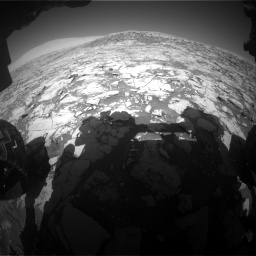 NASA's Mars rover Curiosity acquired this image using its Front Hazard Avoidance Cameras (Front Hazcams) on Sol 1828