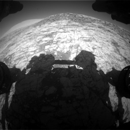Nasa's Mars rover Curiosity acquired this image using its Front Hazard Avoidance Camera (Front Hazcam) on Sol 1828, at drive 654, site number 66