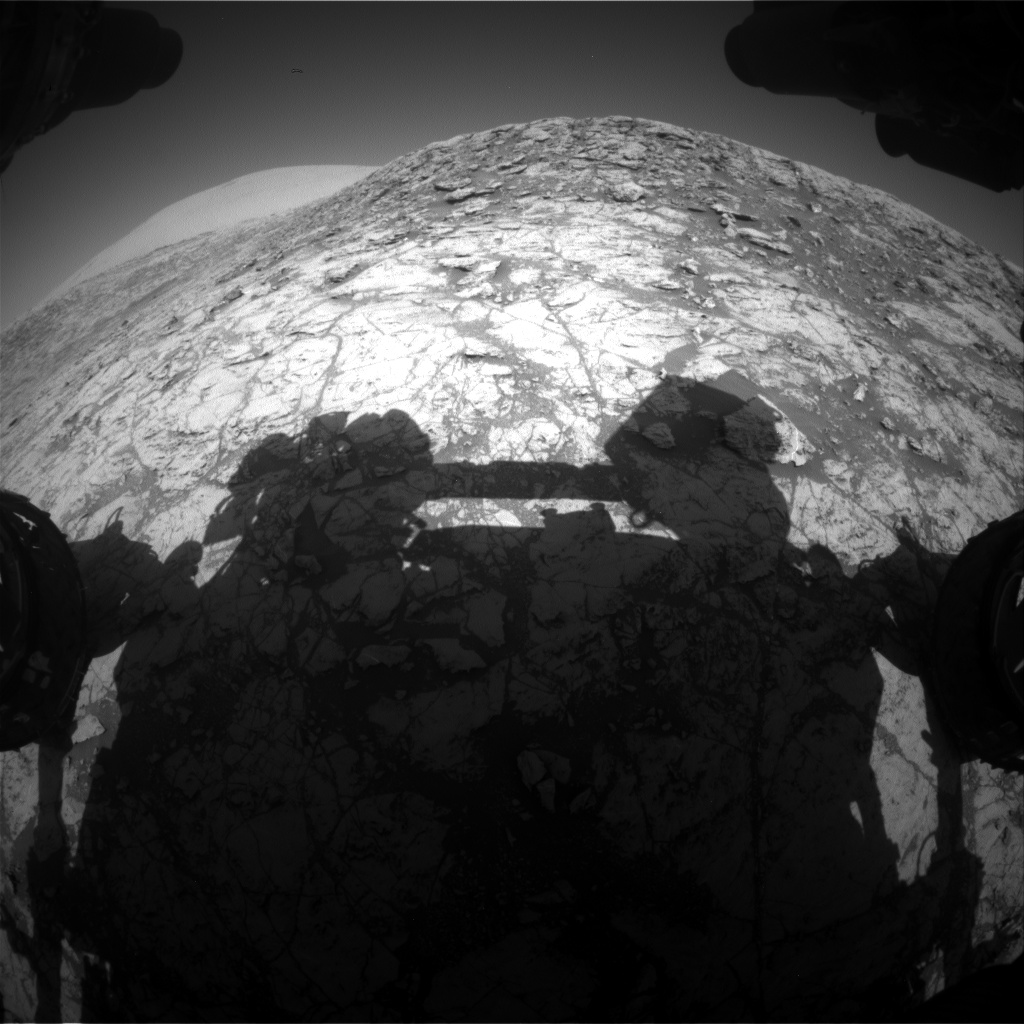 Nasa's Mars rover Curiosity acquired this image using its Front Hazard Avoidance Camera (Front Hazcam) on Sol 1828, at drive 684, site number 66