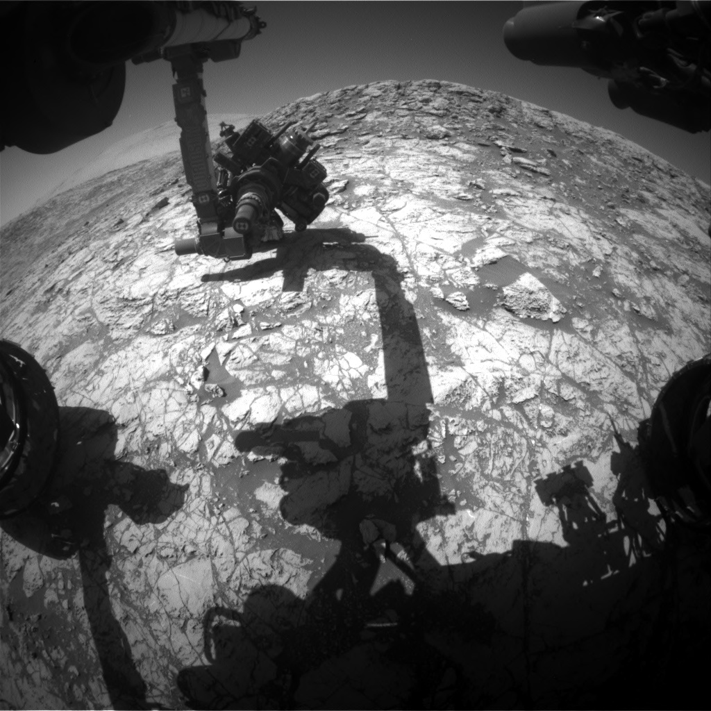 Nasa's Mars rover Curiosity acquired this image using its Front Hazard Avoidance Camera (Front Hazcam) on Sol 1829, at drive 684, site number 66
