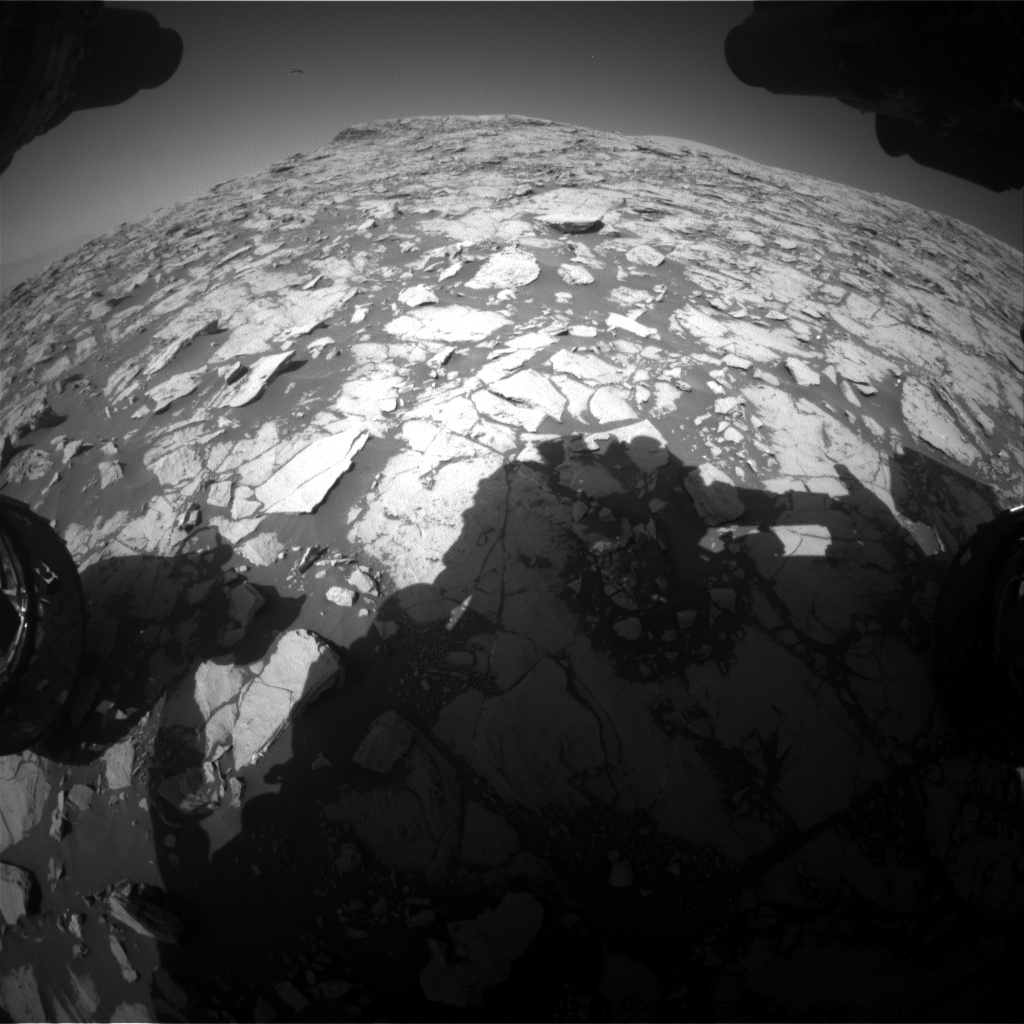 Nasa's Mars rover Curiosity acquired this image using its Front Hazard Avoidance Camera (Front Hazcam) on Sol 1829, at drive 856, site number 66