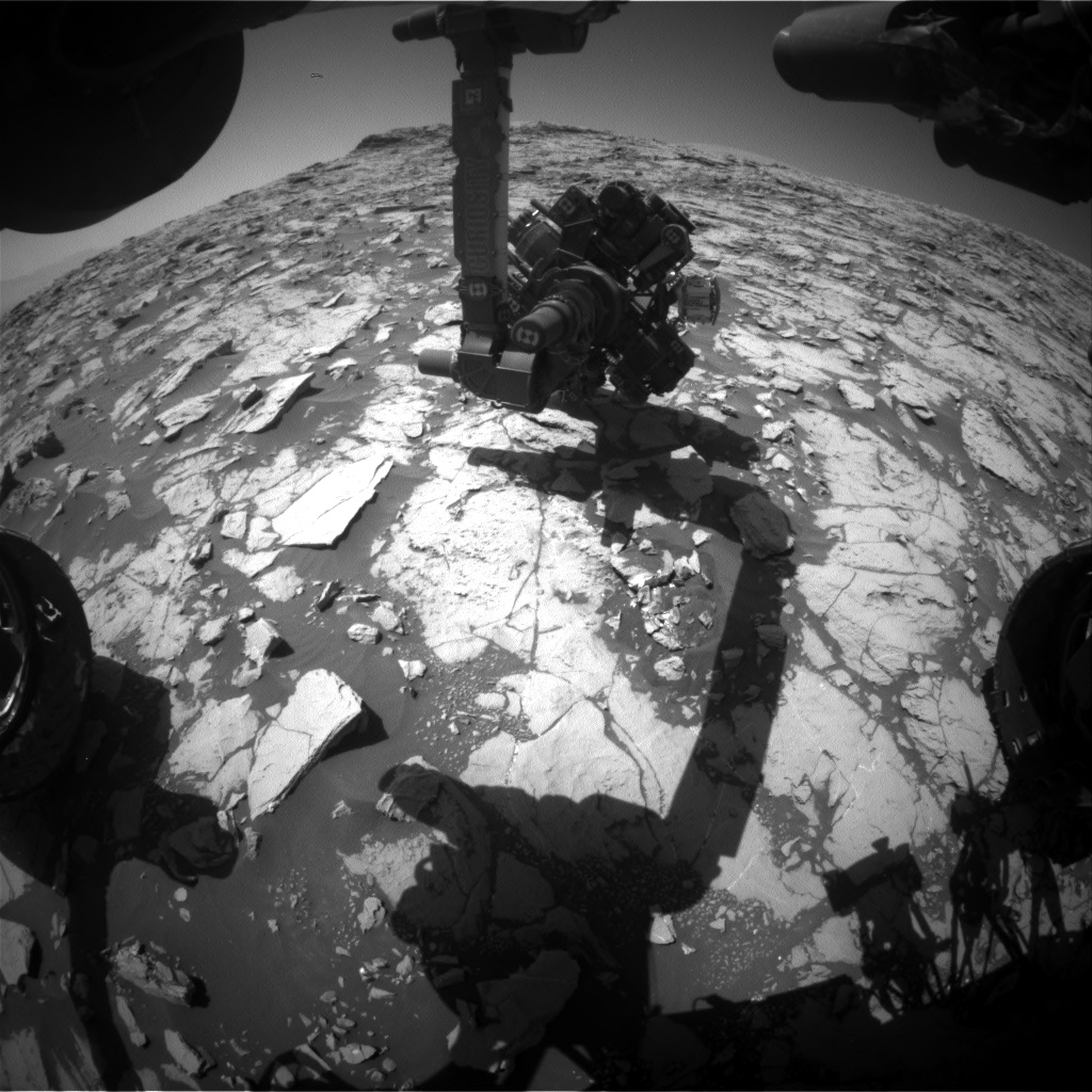 Nasa's Mars rover Curiosity acquired this image using its Front Hazard Avoidance Camera (Front Hazcam) on Sol 1830, at drive 856, site number 66