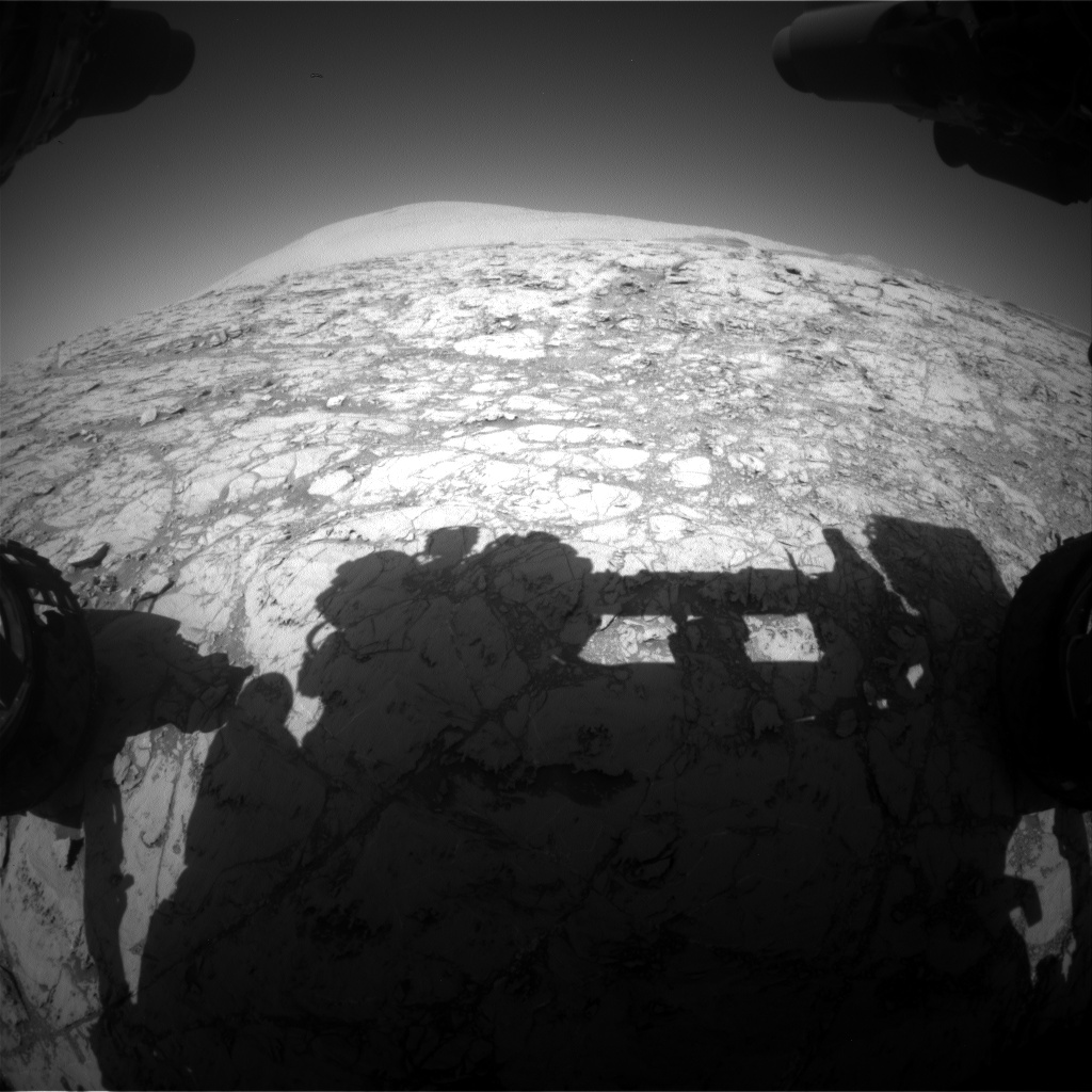Nasa's Mars rover Curiosity acquired this image using its Front Hazard Avoidance Camera (Front Hazcam) on Sol 1830, at drive 952, site number 66