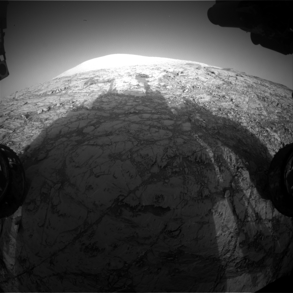Nasa's Mars rover Curiosity acquired this image using its Front Hazard Avoidance Camera (Front Hazcam) on Sol 1831, at drive 952, site number 66