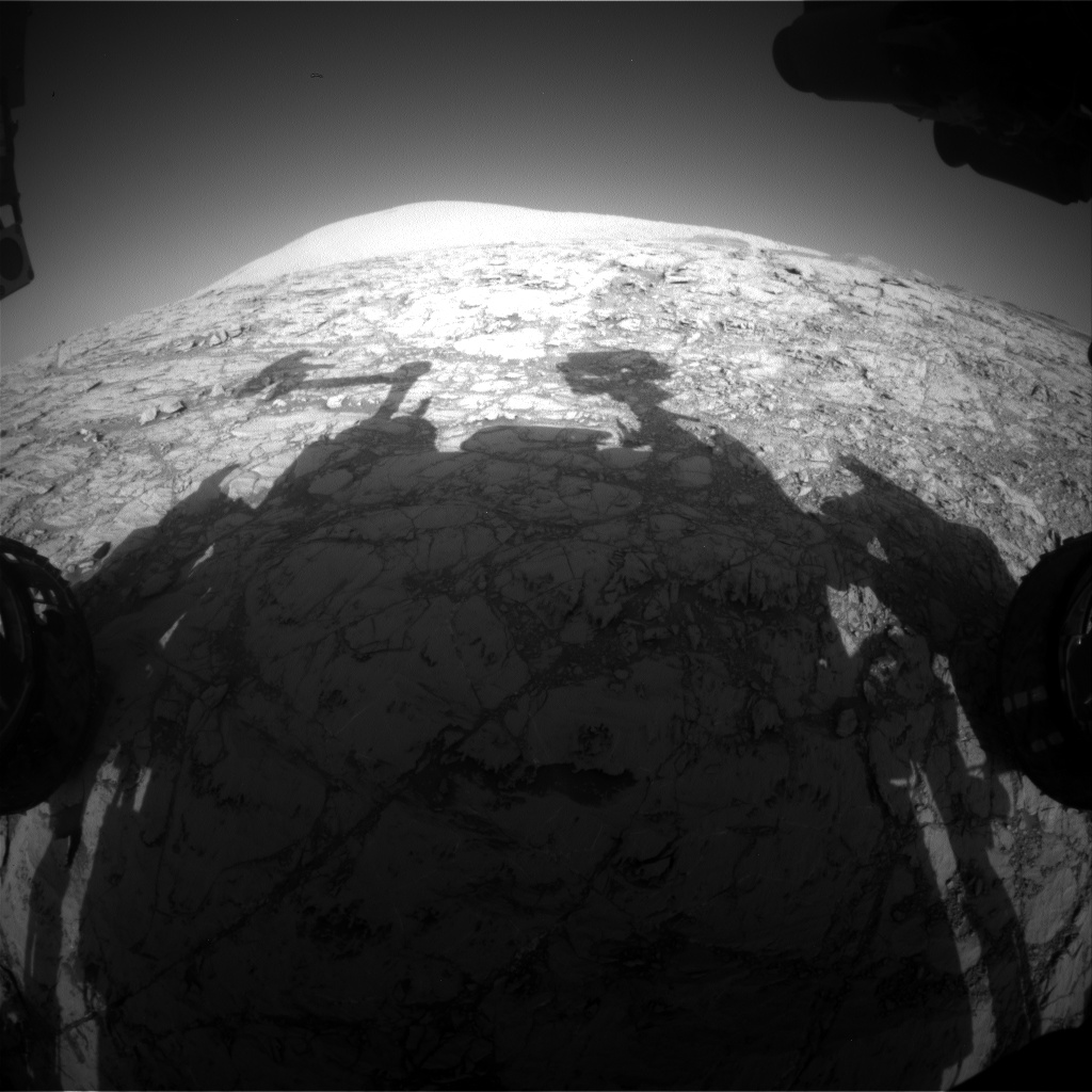 Nasa's Mars rover Curiosity acquired this image using its Front Hazard Avoidance Camera (Front Hazcam) on Sol 1832, at drive 952, site number 66