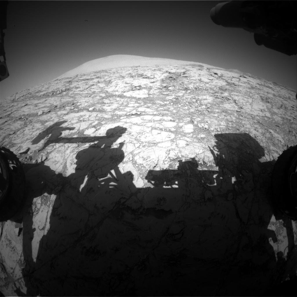 Nasa's Mars rover Curiosity acquired this image using its Front Hazard Avoidance Camera (Front Hazcam) on Sol 1833, at drive 952, site number 66